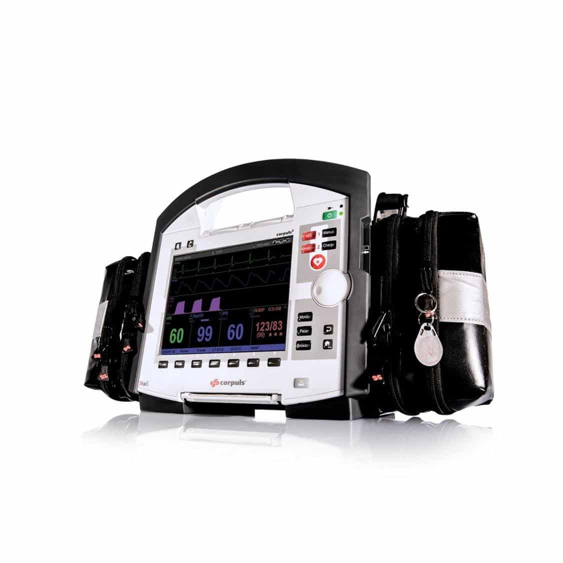 ICATT Air Ambulance patient cardiac monitor during transportation, Medical Emergency Air Ambulance Services in India