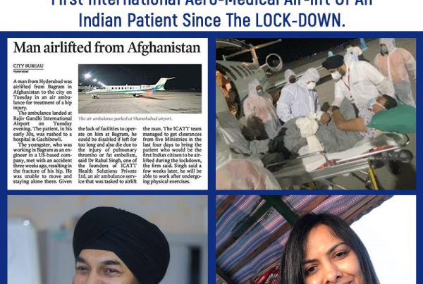First International Aero-Medical Air-lift Of An Indian Patient Since The LOCK-DOWN