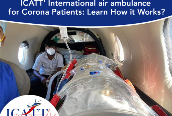 International Air Ambulance for Corona patients transportation services in India, medical helicopter near me