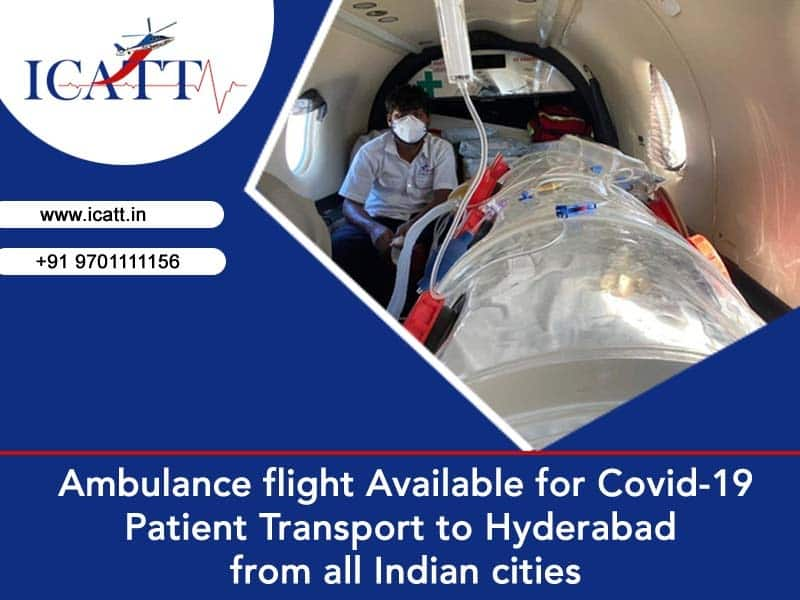 ICATT air ambulance for Covid 19 patient transportation in India, helicopter emergency medical services near me